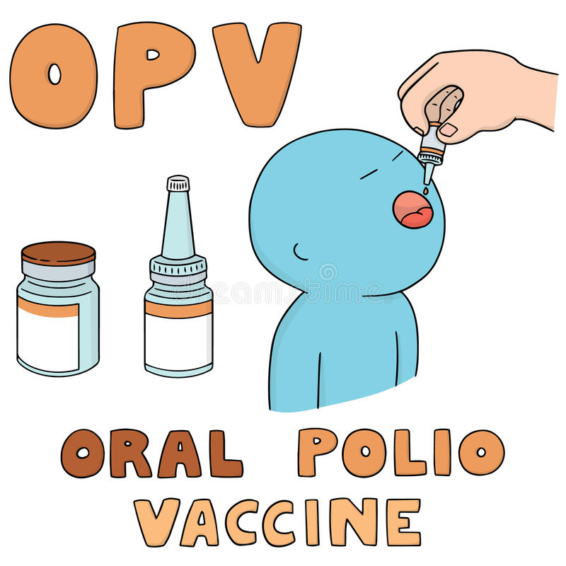口头小儿麻痹症疫苗 向量例证