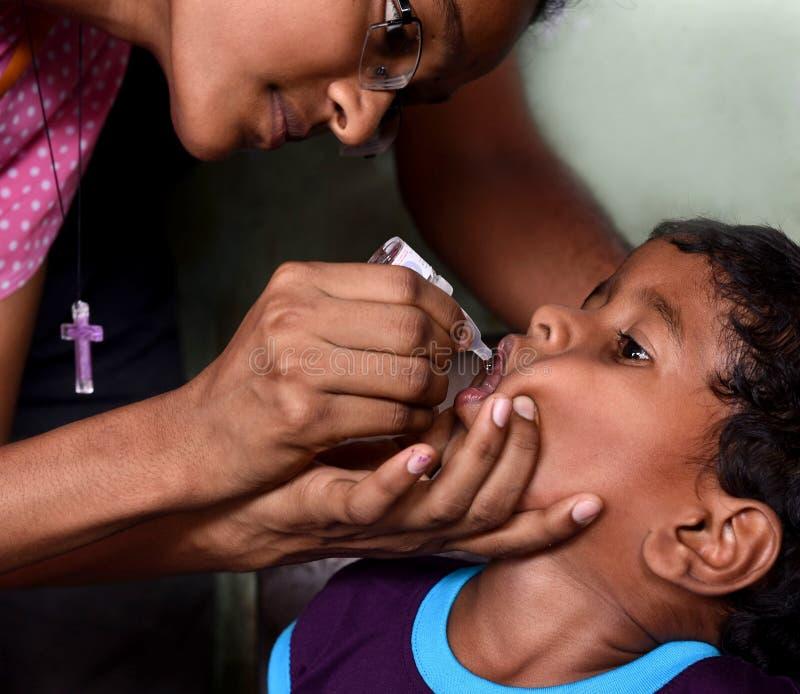 口头小儿麻痹症疫苗 库存图片