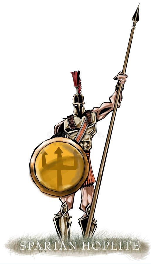 古代希腊的重装备步兵 库存例证