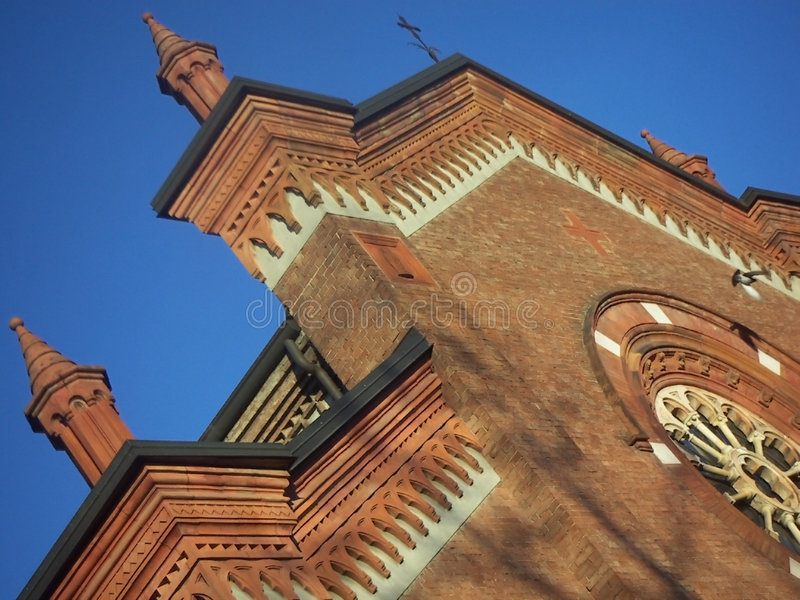 古代罗马教会的detali 免版税图库摄影