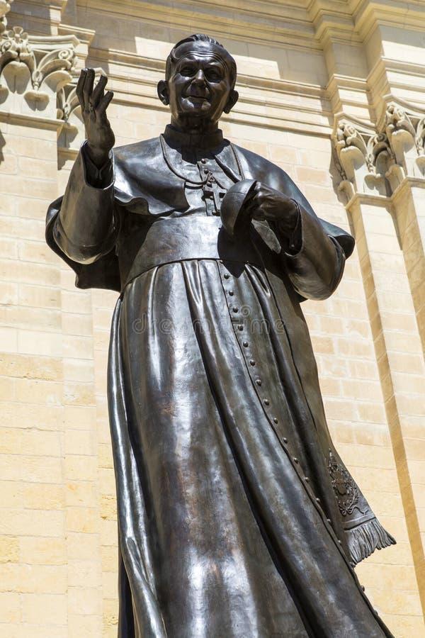 古佐教宗若望保禄二世雕像 免版税库存图片