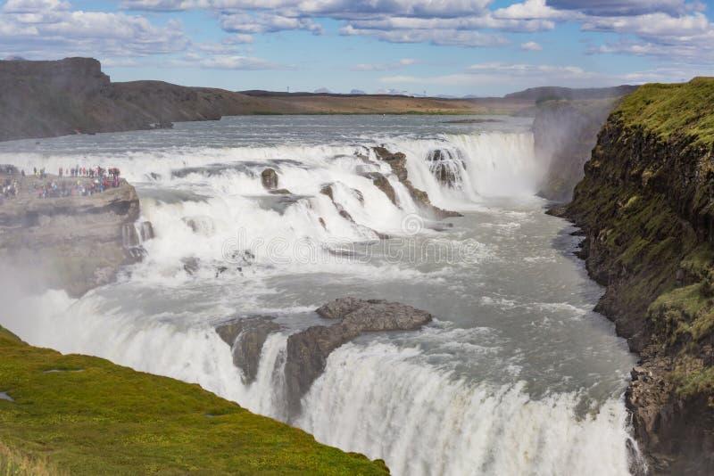 古佛斯瀑布-瀑布冰岛 免版税库存图片