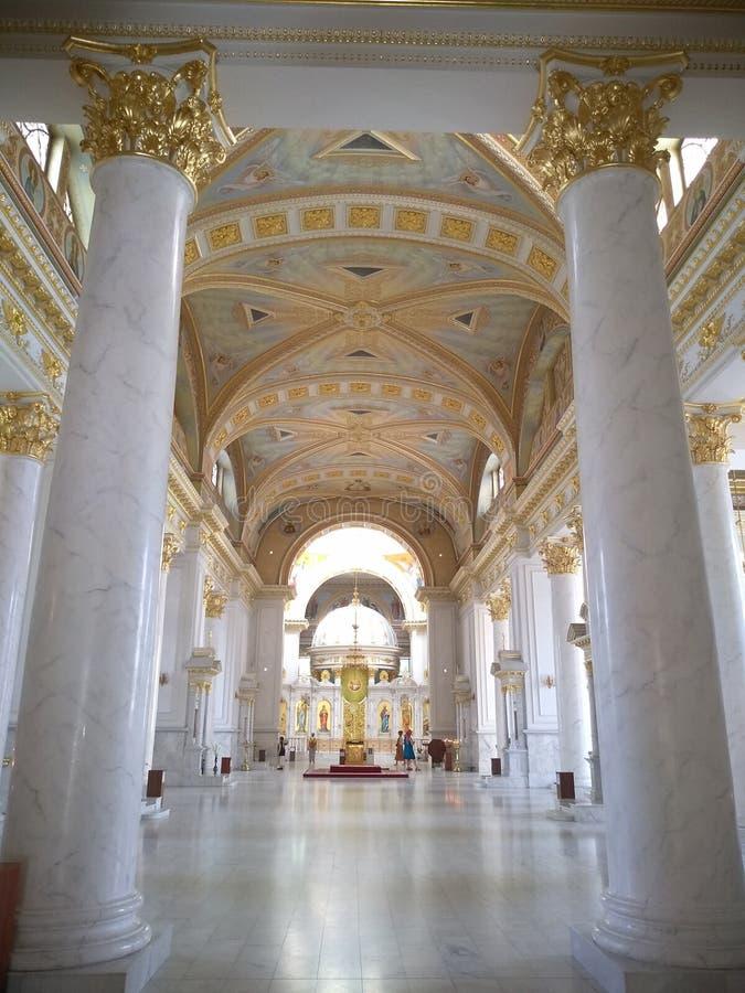 古典主义时代的建筑学在傲德萨 库存照片