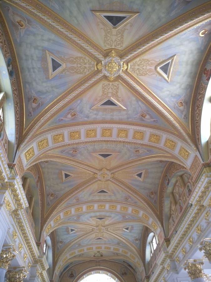 古典主义时代的建筑学在傲德萨 免版税库存图片