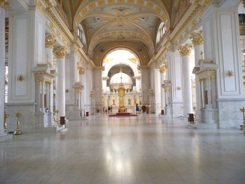 古典主义时代的建筑学在傲德萨 免版税库存照片