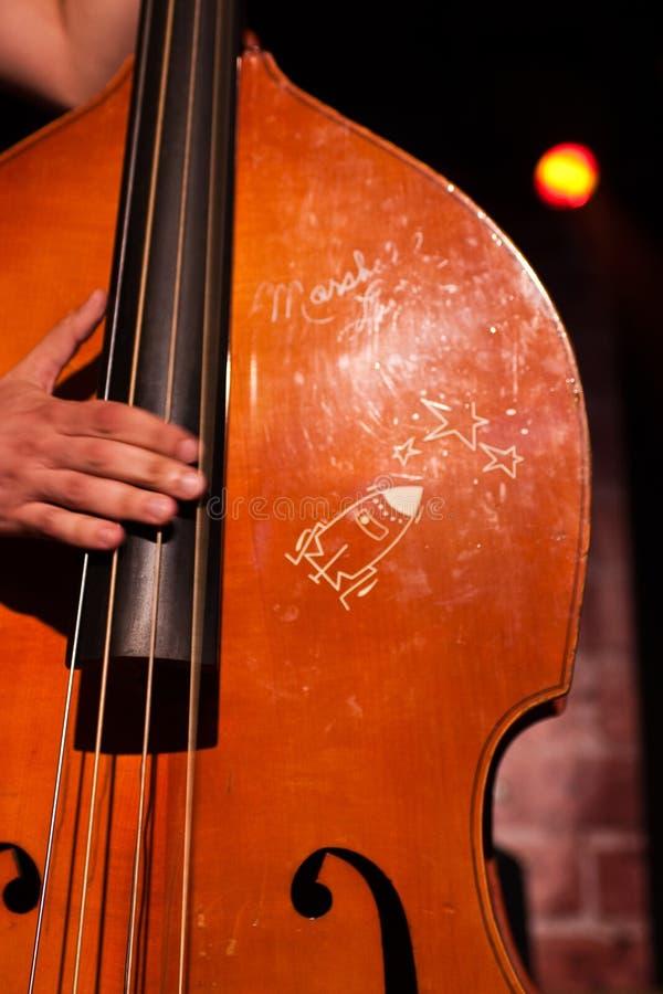 古典低音提琴使用 免版税库存照片
