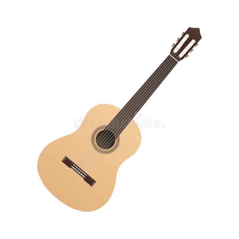 古典吉他光音乐串导航西班牙佛拉明柯舞曲音乐对象传染媒介 向量例证