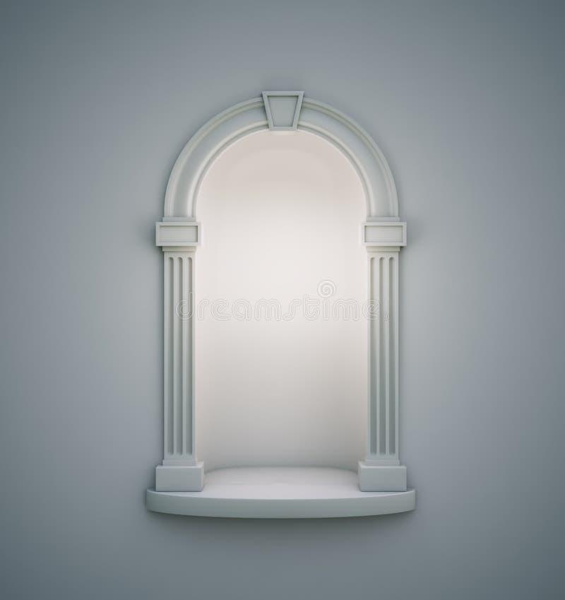 古典墙壁适当位置 向量例证