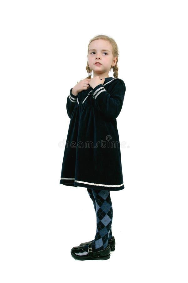 古典女孩一点 免版税库存图片