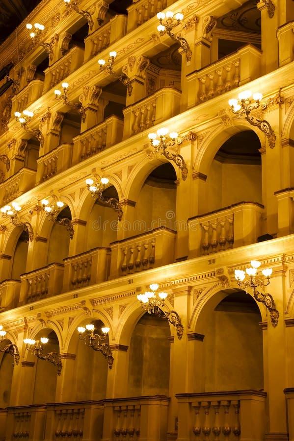 古典意大利剧院 免版税库存图片