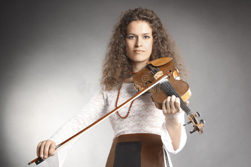 古典球员小提琴小提琴手 库存照片