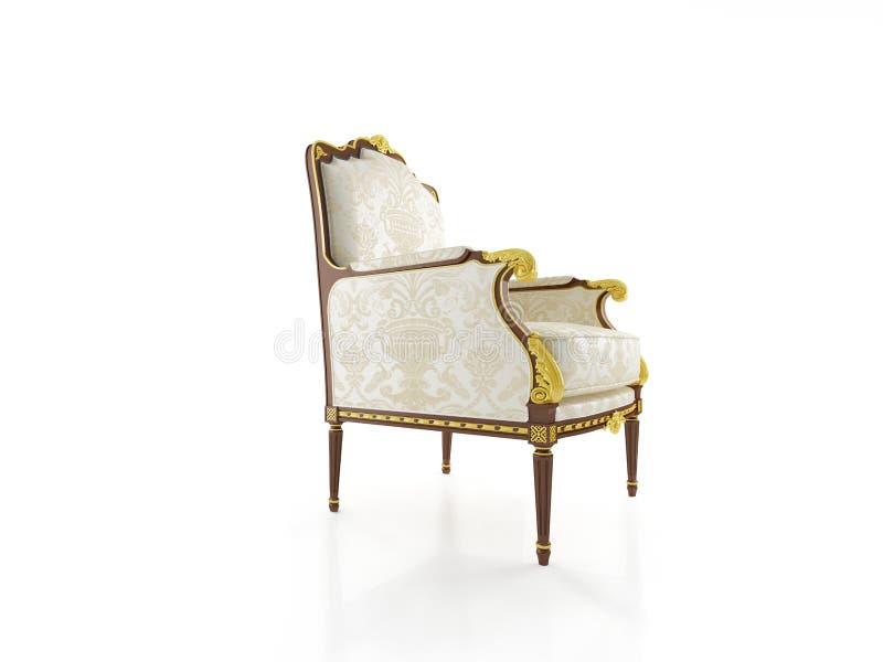 古典的扶手椅子 皇族释放例证