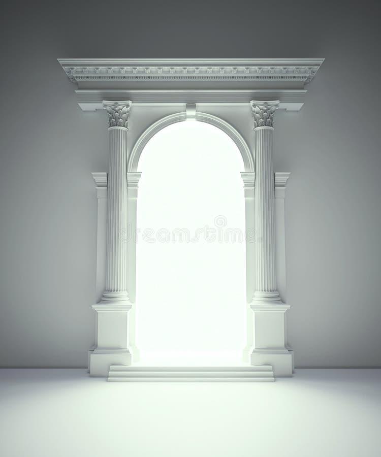 古典的拱廊 库存例证