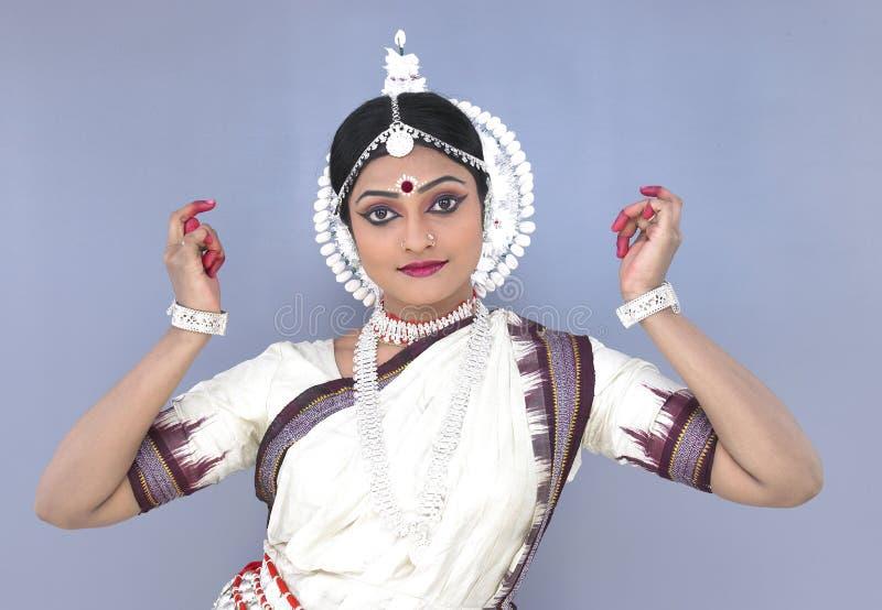 古典舞蹈演员女性印地安人 库存照片