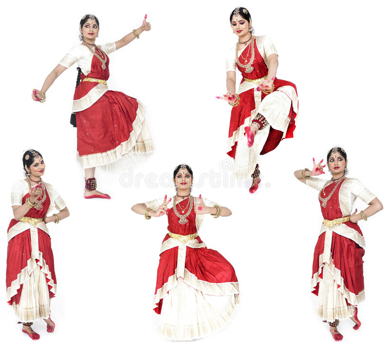 古典舞蹈演员女性印度 库存照片