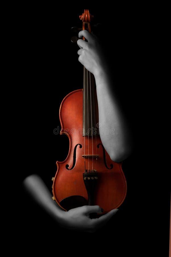古典详细资料递仪器扮演小提琴小提琴手的音乐播放器 免版税库存图片