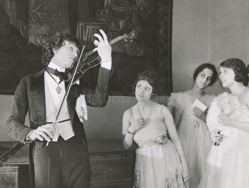 古典音乐流行乐队迷 免版税库存照片