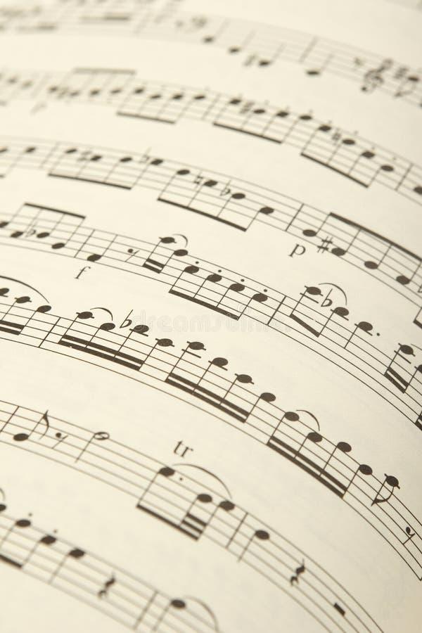 古典音乐页 免版税库存照片