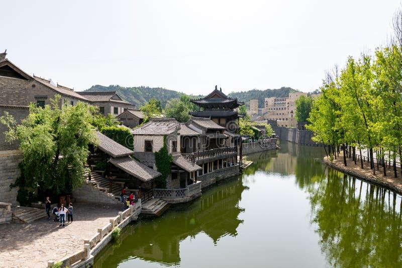 古北沃特敦在司马台在北京在中国, ancie复制品  库存图片