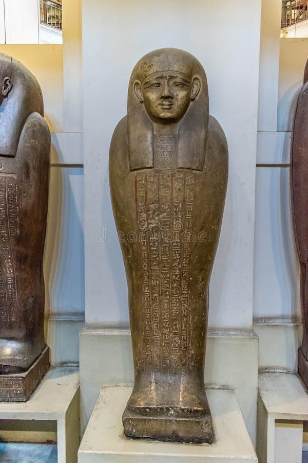 古埃及石石棺雕象 免版税图库摄影