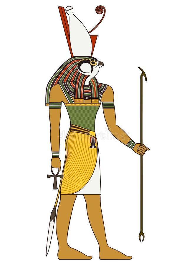古埃及神被隔绝的图  库存例证