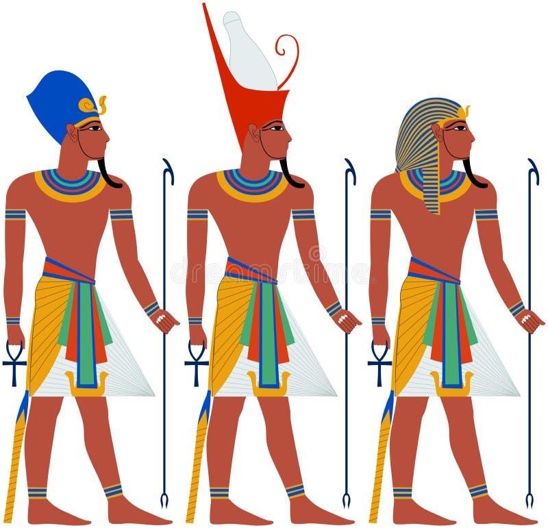 古埃及逾越节的法老王组装 向量例证