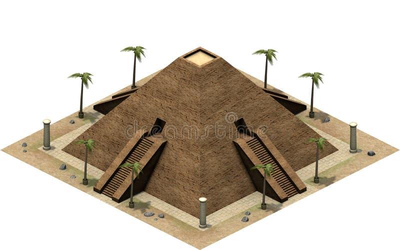 古埃及,伟大的金字塔的等量大厦 3d翻译 库存例证