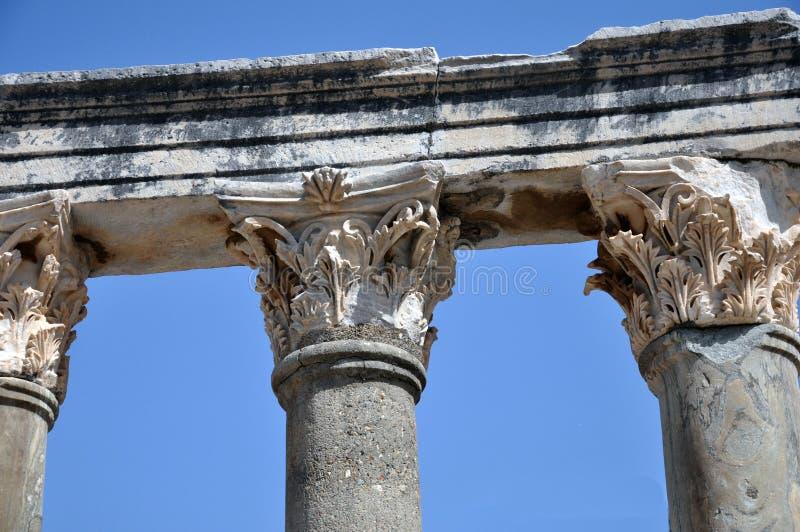 古城以弗所,伊兹密尔,土耳其的专栏 免版税库存照片