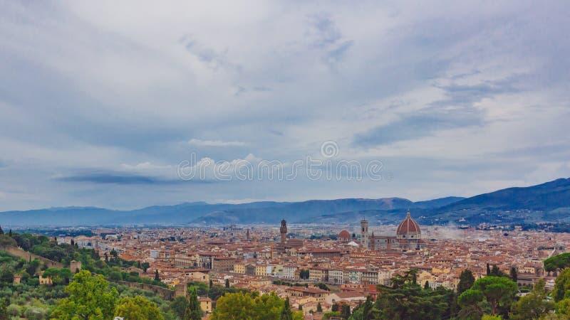 古城佛罗伦萨,意大利的看法,观看从广场 免版税库存照片