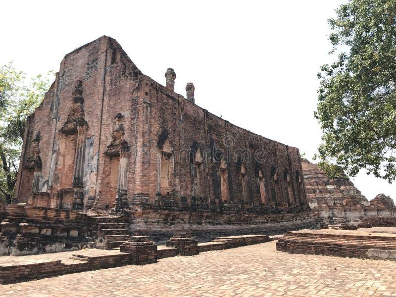 古城阿尤特拉利夫雷斯暹罗王国的第二资本 免版税库存图片