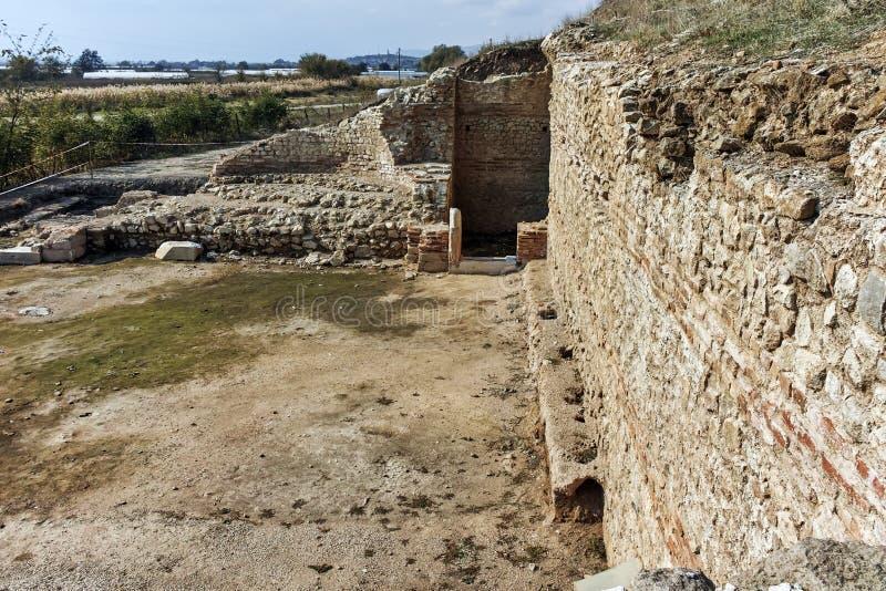 古城Heraclea Macedon的腓力二世-修造的Sintica废墟  免版税库存照片