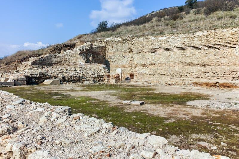 古城Heraclea Macedon,保加利亚的腓力二世-修造的Sintica废墟  免版税图库摄影