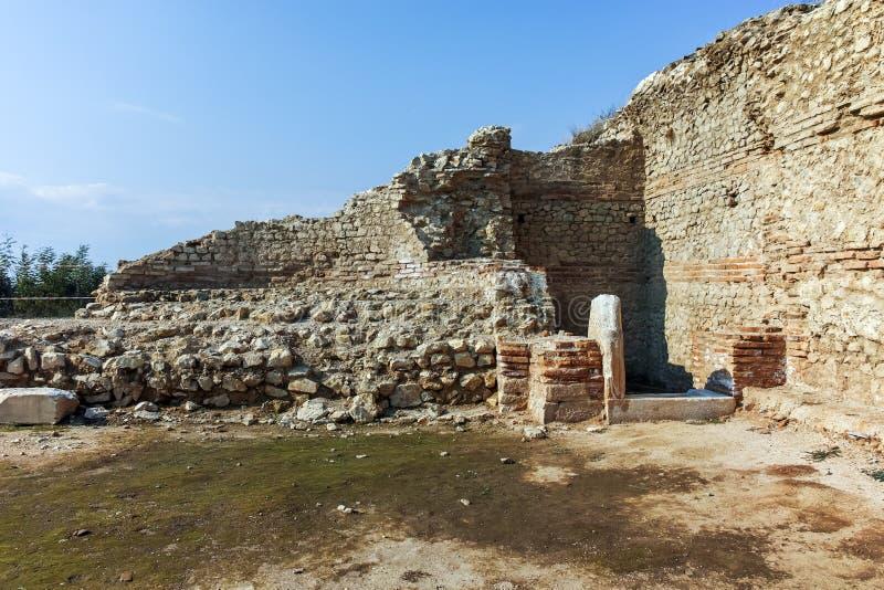 古城Heraclea Macedon,保加利亚的腓力二世-修造的Sintica废墟  库存图片