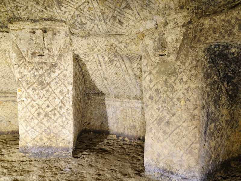 古墓在Tierradentro,哥伦比亚, 库存照片