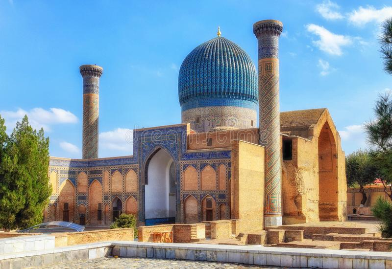 古尔e帖木尔贵族陵墓  免版税库存图片