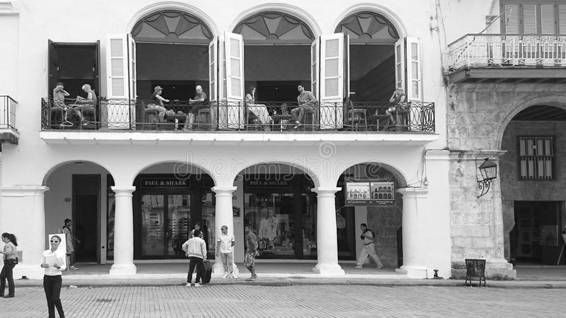 古巴咖啡馆 库存图片