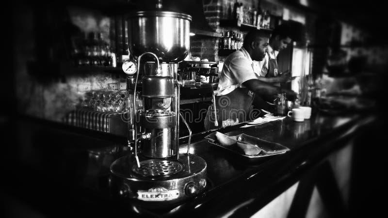古巴咖啡馆 库存照片