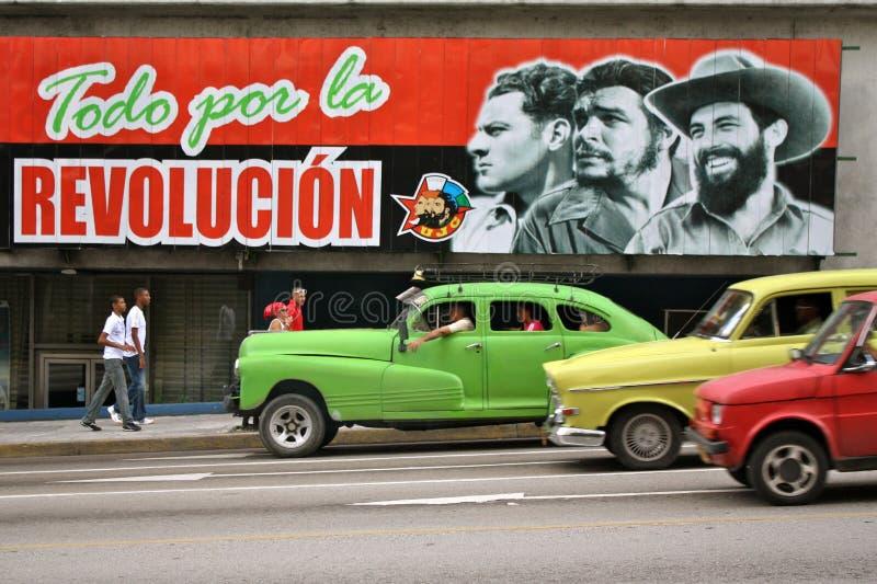 古巴哈瓦那海报革命 免版税库存图片