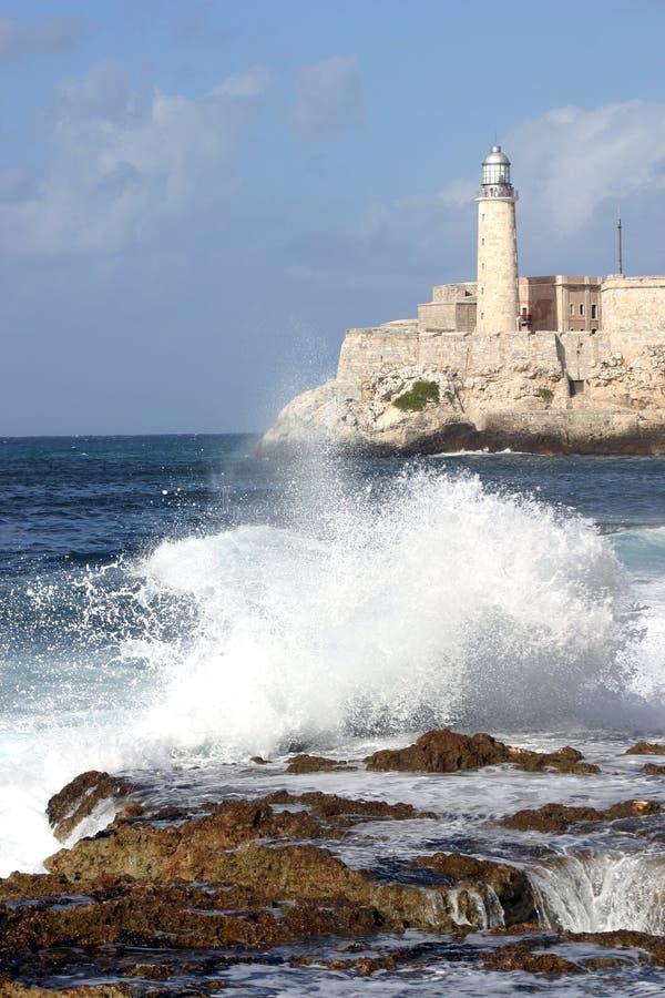 古巴哈瓦那灯塔 图库摄影