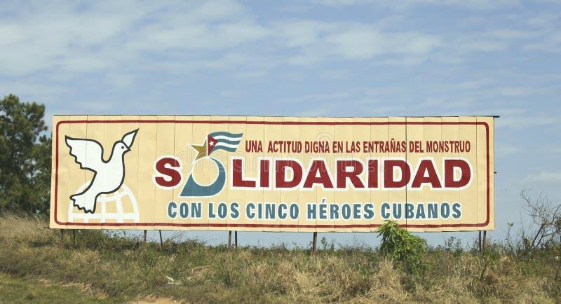 古巴宣传 免版税图库摄影
