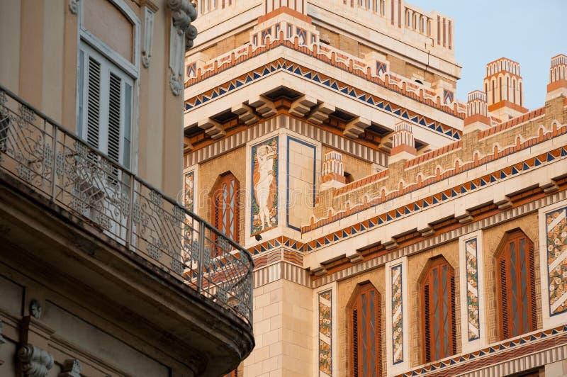 古巴建筑学门面细节  哈瓦那 古巴 免版税库存照片
