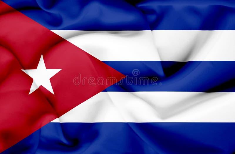 古巴挥动的旗子 皇族释放例证