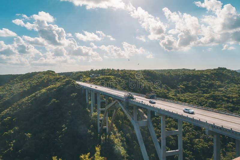 古巴桥梁 库存照片