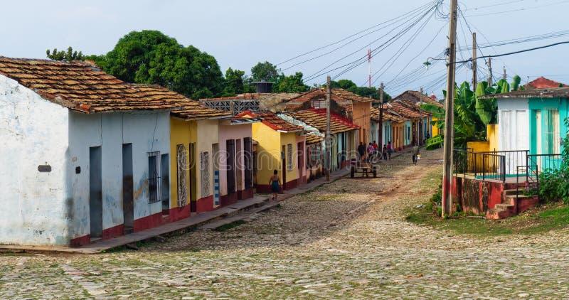 古巴特立尼达视图 库存照片