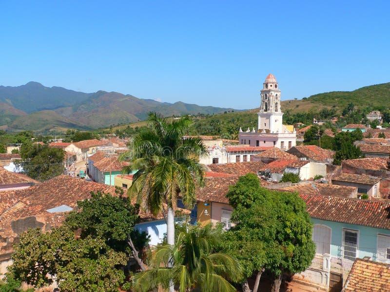 古巴特立尼达视图 免版税库存图片