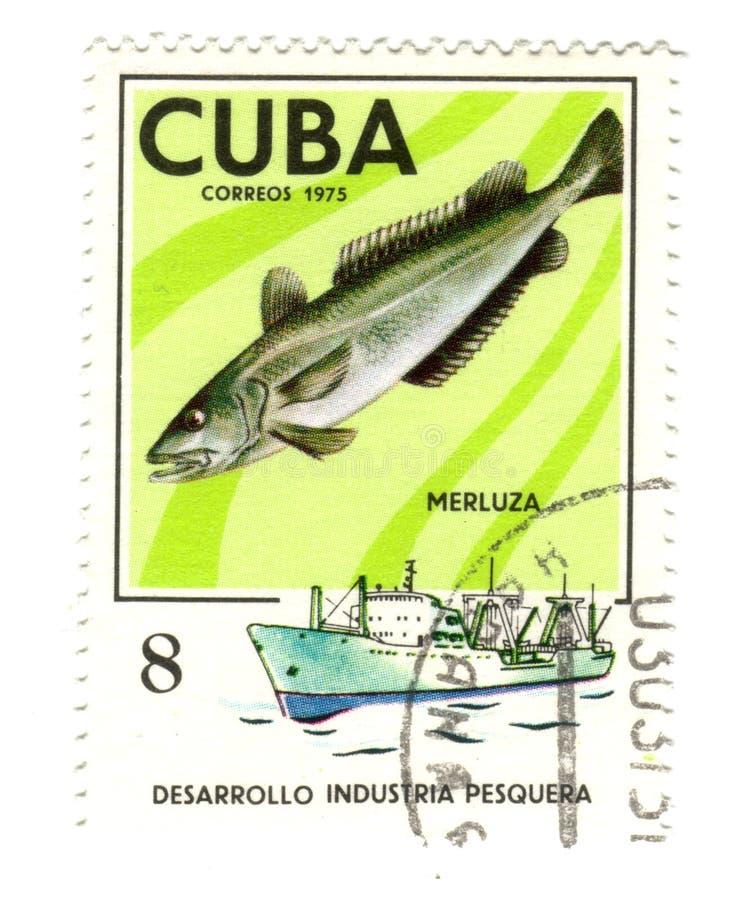 古巴老邮票 免版税库存照片
