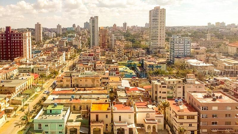 古巴街市的哈瓦那 图库摄影