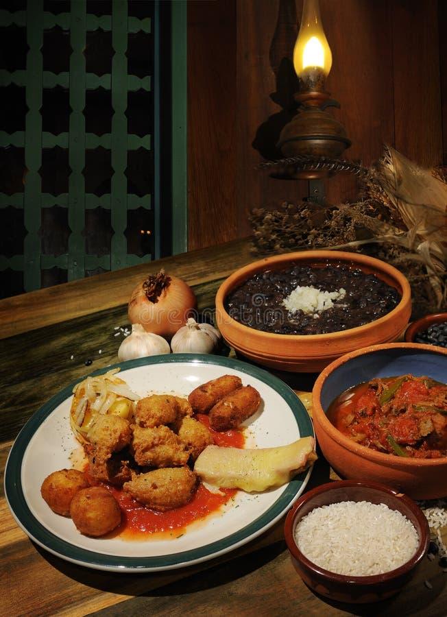 古巴餐馆 图库摄影