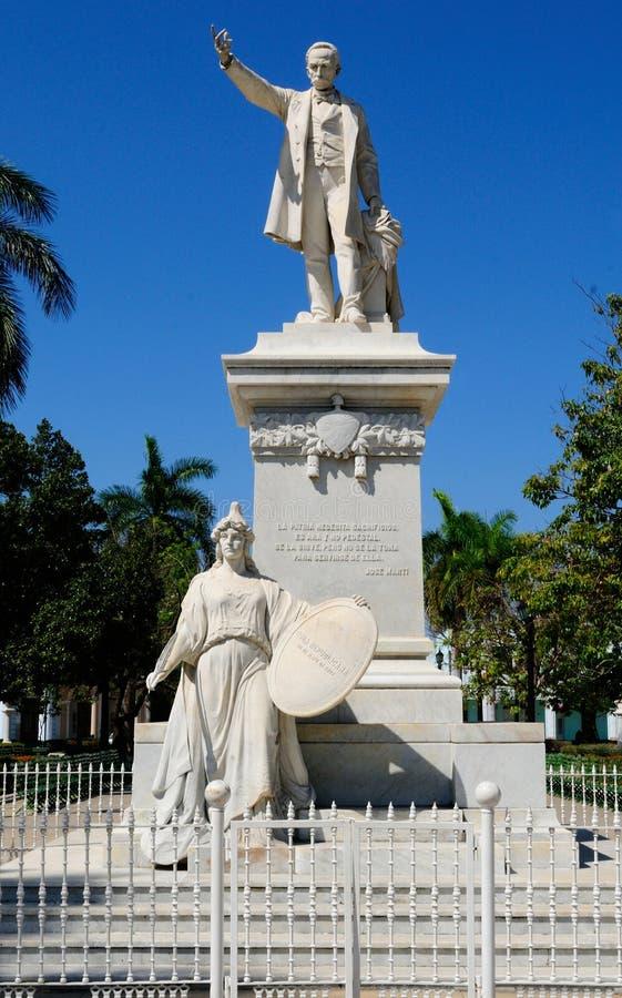 古巴:何塞马蒂纪念品在西恩富戈斯城市 免版税库存图片