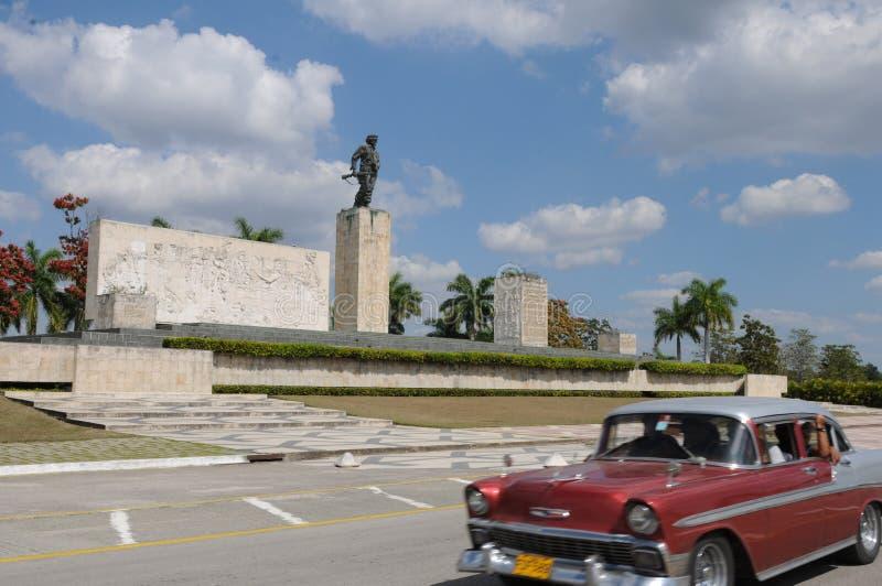 古巴:车公纪念在圣克拉拉|Kuba :圣诞老人的车公Denkmal 库存照片